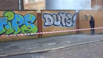 Graffiti verwijderen Ter Wengel Bedrijfsdiensten Hengelo